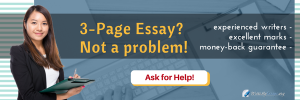 how to write a 3 page essay